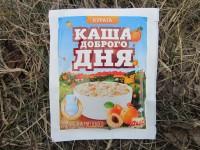 Каша овсяная быстрого приготовления с курагой и молоком, производство компании ПАО Лантманнен Акса
