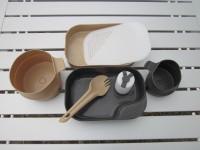 Шведский набор походной посуды Wildo Camp-A-Box Complete, тарелка, крышка, чашки, ложка, разделочная доска