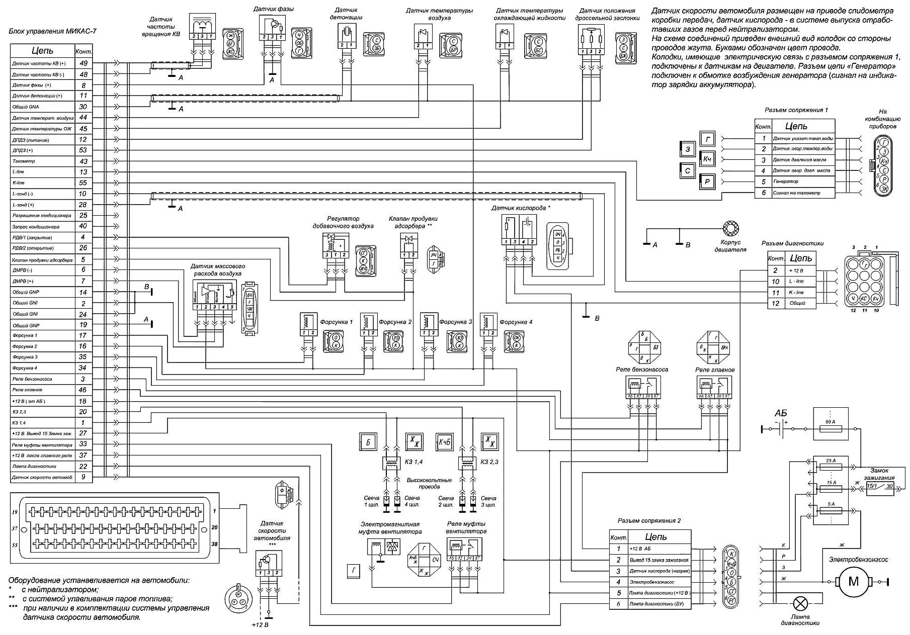 Схема блока микас 11 cr