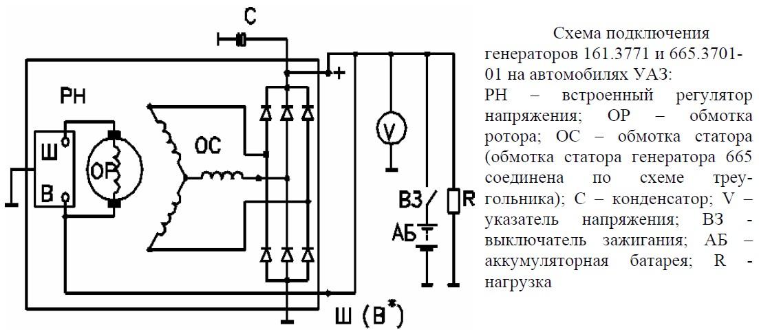 схема подключения генератора мазда 626 ge