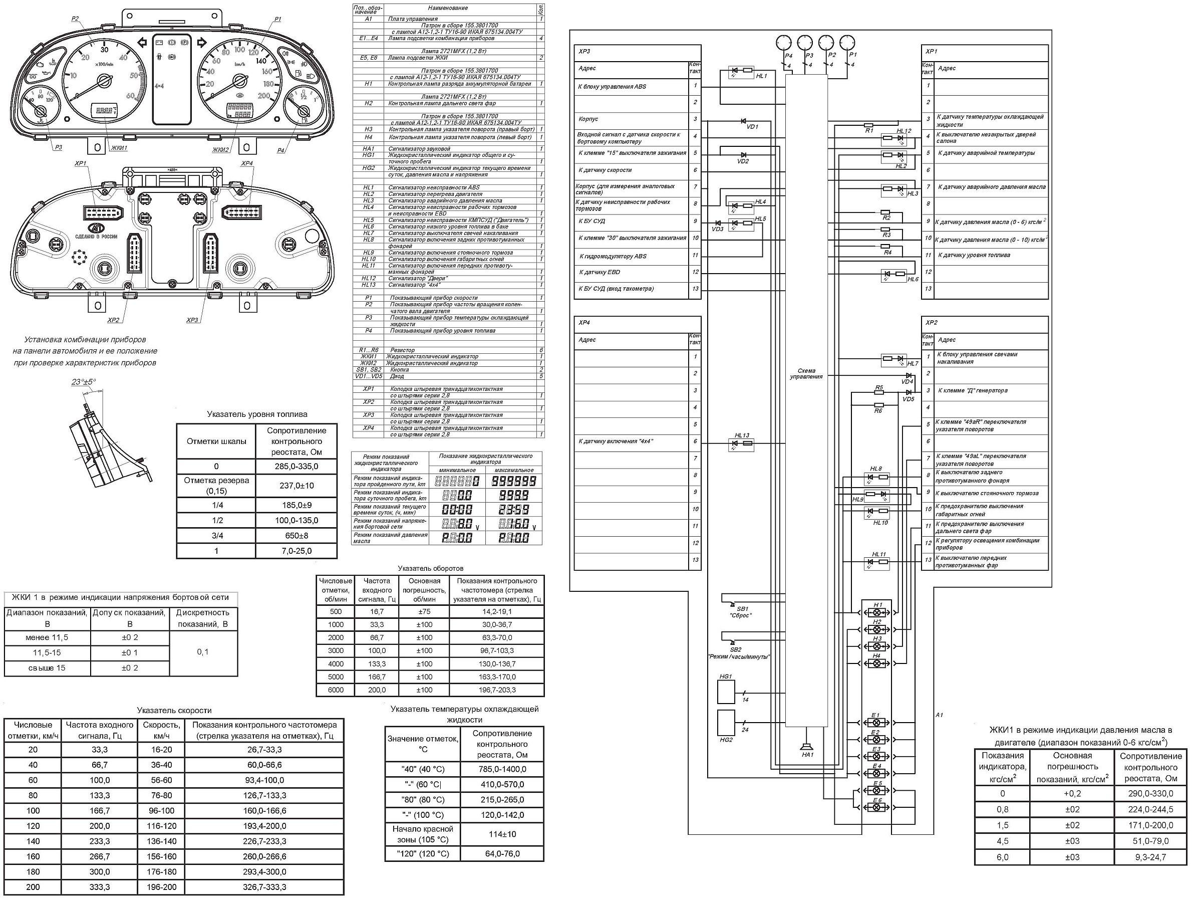 уаз 3163 схема электропроводки