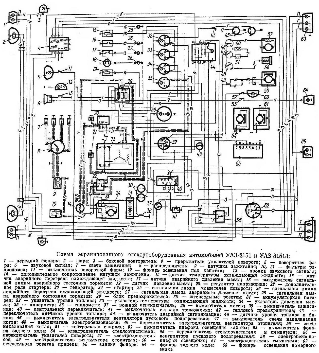 уаз 469 зажигание контактное схема