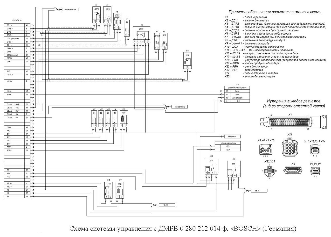 схема подключения датчиков к микас 11ет