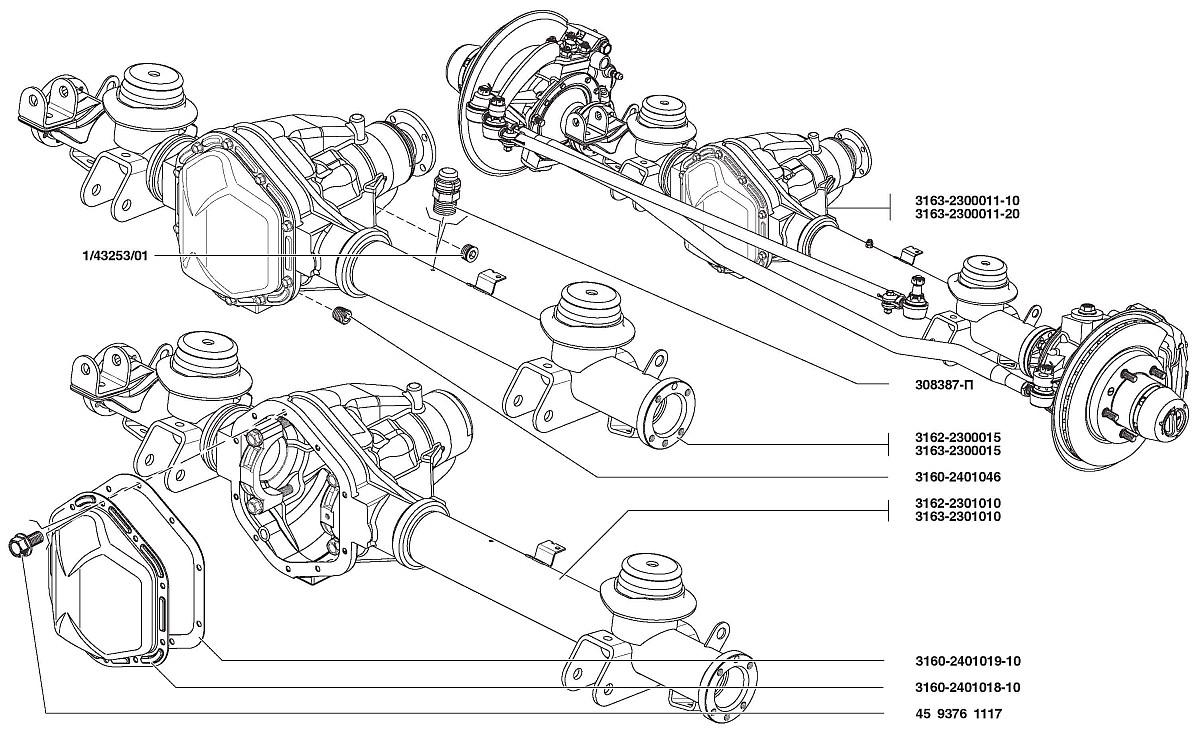 схема устройства коробки и раздатки уаз 469