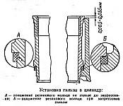 Установка гильзы в цилиндр двигателя УМЗ-417