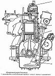 Кривошипно-шатунный механизм двигателя ЗМЗ-4021, коленвал, поршни, шатуны и маховик