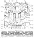 Клапаны и привод клапанов ГРМ дизельного двигателя ЗМЗ-51432 CRS, гидроопора и промежуточный вал