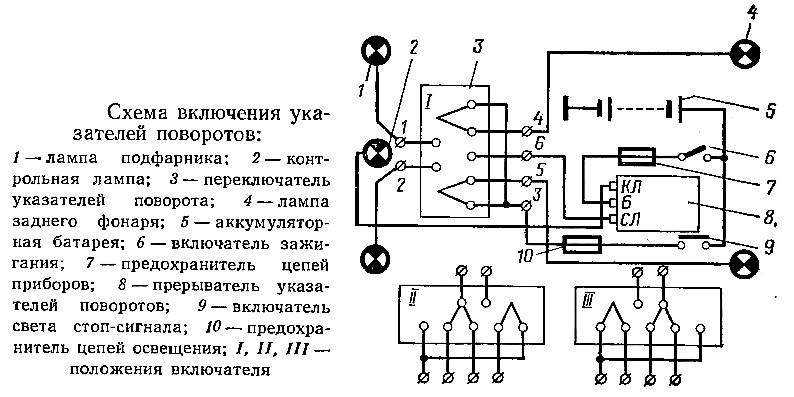 Электрика уаз 469 схема подключения