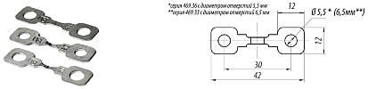 Ленточные автомобильные предохранители серии 469.36, размеры