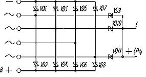 Электрическая схема генераторного выпрямительного ограничительного блока БВО3-105-06