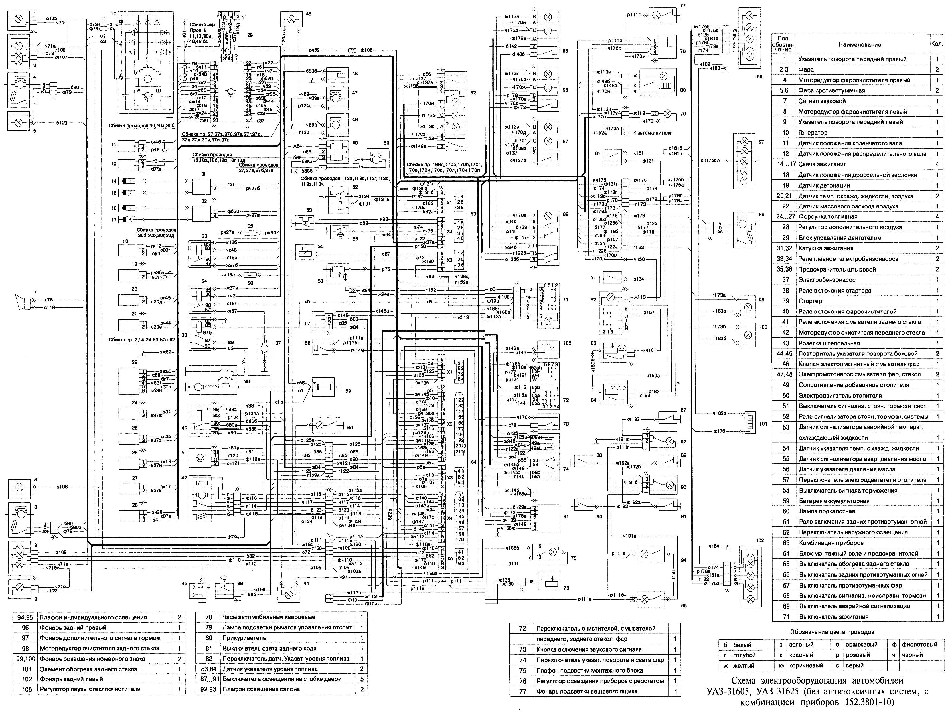 схема системы зарядки на уаз