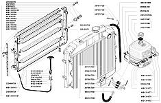 Каталожные номера некоторых элементов системы охлаждения УАЗ-3741, УАЗ-3962, УАЗ-3909, УАЗ-2206, УАЗ-3303