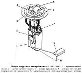 Модуль погружного электробензонасоса 155.1139002, устройство, характеристики, особенности эксплуатации и аналоги
