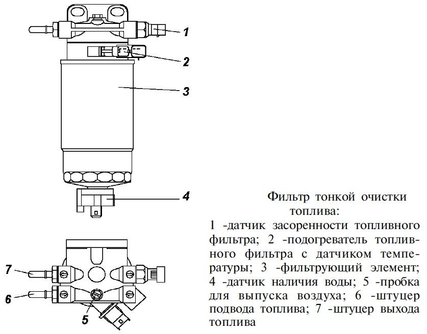 Датчик воды в топливе схема