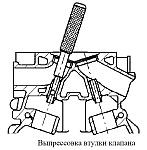 Перед выпрессовыванием направляющих втулок необходимо определить ремонтопригодность головки блока цилиндров двигателя ЗМЗ-40906