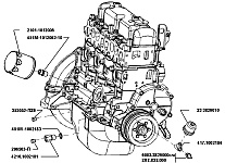 Схема двигателя 4216 газель схема