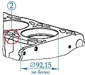 Блок цилиндров, поршень, шатун, промежуточный и коленчатый вал двигателей ЗМЗ-405, ЗМЗ-406, ЗМЗ-409, места контроля, предельные размеры, устранение дефектов при ремонте