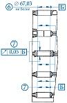 Если радиальное биение средних опор для коленчатого вала ЗМЗ-405, ЗМЗ-406, ЗМЗ-409 относительно крайних более 0,05 мм, то блок цилиндров необходимо браковать