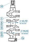 Коленчатый вал двигателей ЗМЗ-405, ЗМЗ-406, ЗМЗ-409, места контроля, предельные размеры, способы устранения дефектов при ремонте и сборке