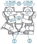 Головка цилиндров, клапанный механизм и привод распределительные валы двигателей ЗМЗ-405, ЗМЗ-406, ЗМЗ-409, места контроля, предельные размеры, способы устранения дефектов при ремонте и сборке