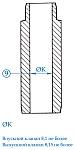 При диаметре отверстий направляющих втулок впускного клапана более 8,1 мм и выпускного клапана более 8,15 мм, их можно ремонтировать следующим образом