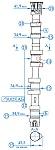 Распределительные валы двигателей ЗМЗ-405, ЗМЗ-406, ЗМЗ-409, места контроля, предельные размеры, способы устранения дефектов при ремонте и сборке