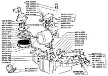 Каталожные номера узлов и деталей системы смазки двигателя ЗМЗ-4062