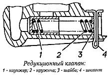 Редукционный клапан масляного насоса 406.1011010-03 двигателя ЗМЗ-4062
