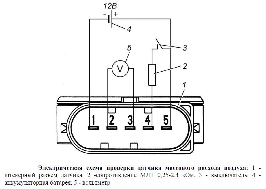 Схема датчика дмрв ваз