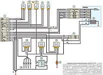 Схема ЭСУД Уаз Хантер модели УАЗ-315148 с двигателем ЗМЗ-5143.10 Евро-2 и блоком управления 514.3763