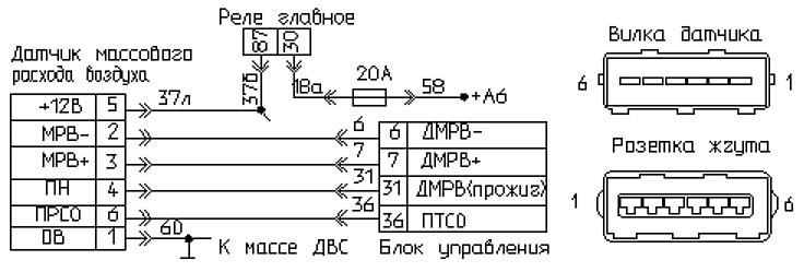 Схема дмрв-м газ 3110