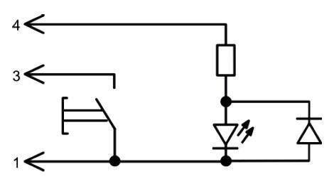 Электрическая схема аварийной сигнализации 650