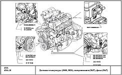 Датчики системы управления двигателем УМЗ-4216 на автомобилях Газель и Соболь, выключатели и реле, обозначение, размещение и назначение