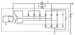 Схема включения регуляторов напряжения со щеточным узлом К1216ЕН1 с ЩДР в составе автомобильного генератора