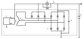Схема включения регуляторов напряжения со щеточным узлом К442ЕН1 с ЩДР в составе автомобильного генератора