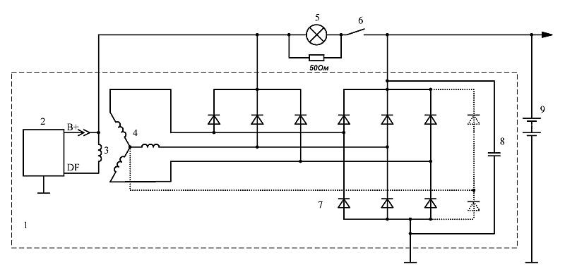 Регулятор напряжения генератора схема фото 498