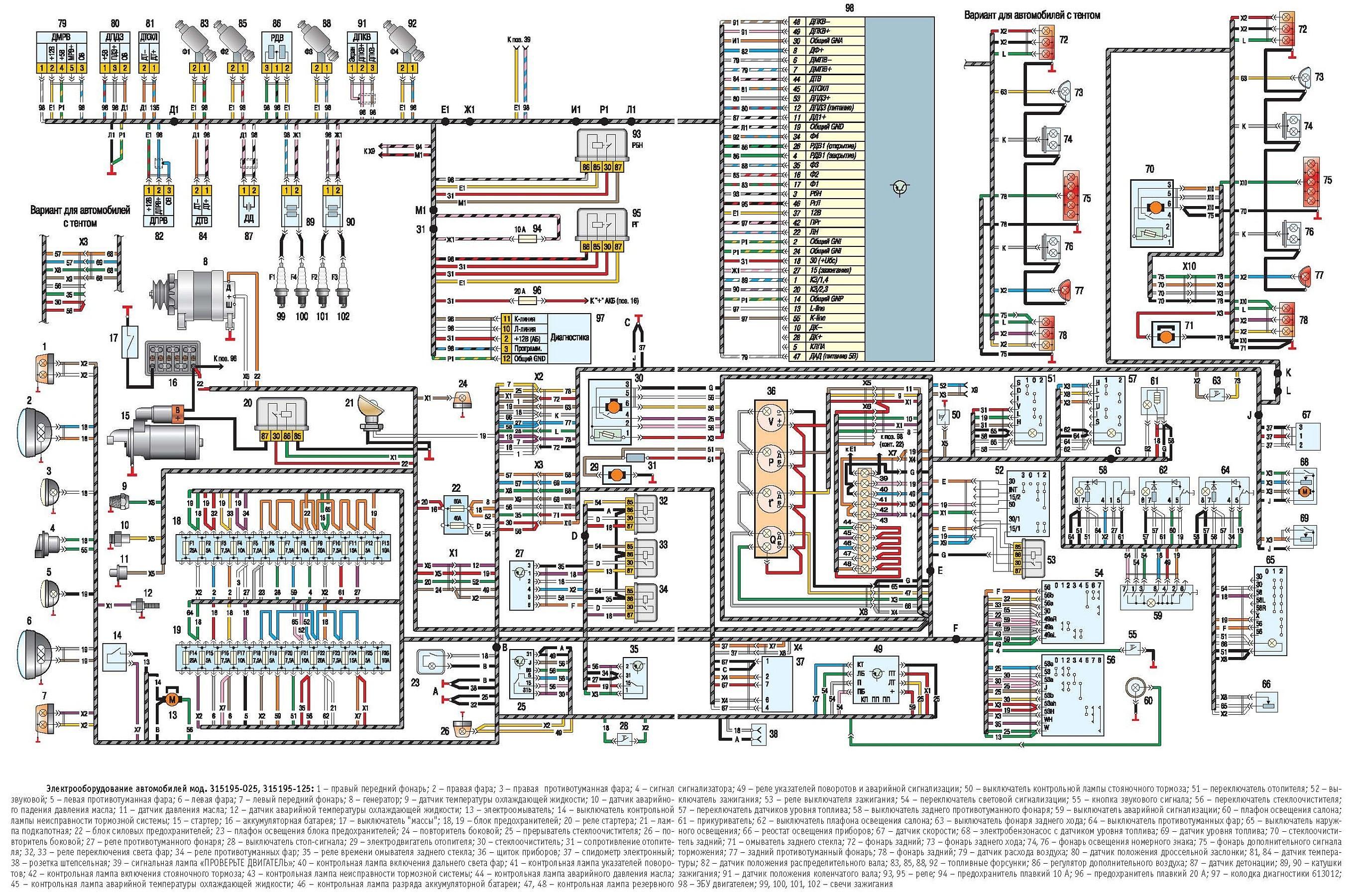 Схема уаза электрооборудования электронного зажигания