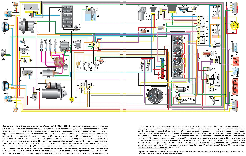 Схема электрооборудования уаз 469 фото 418