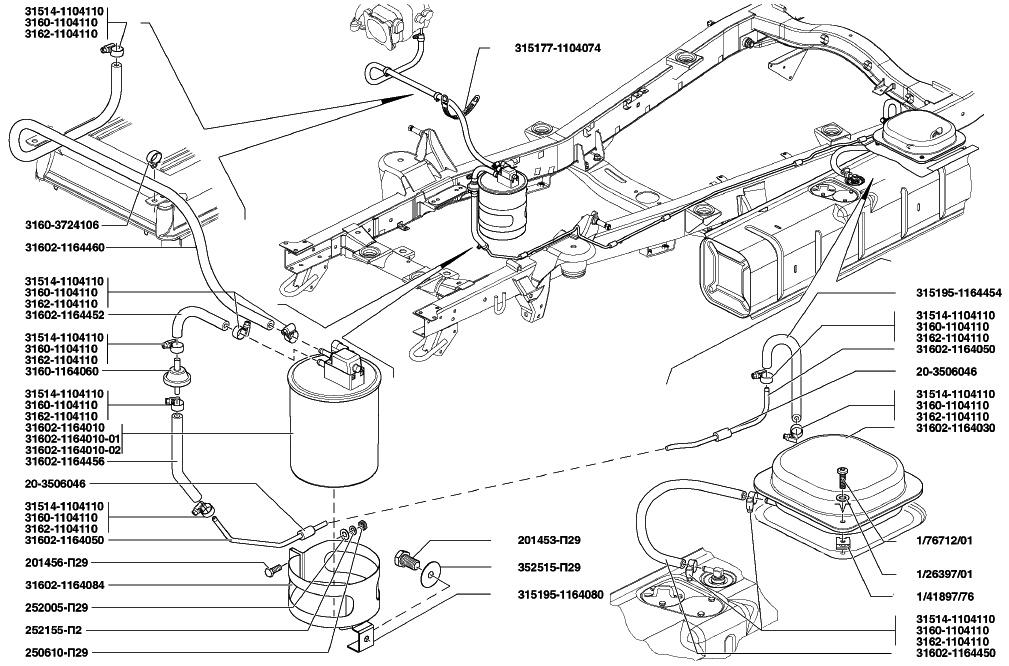 Буханка, инжектор, топливная система вопрос по второму баку 62
