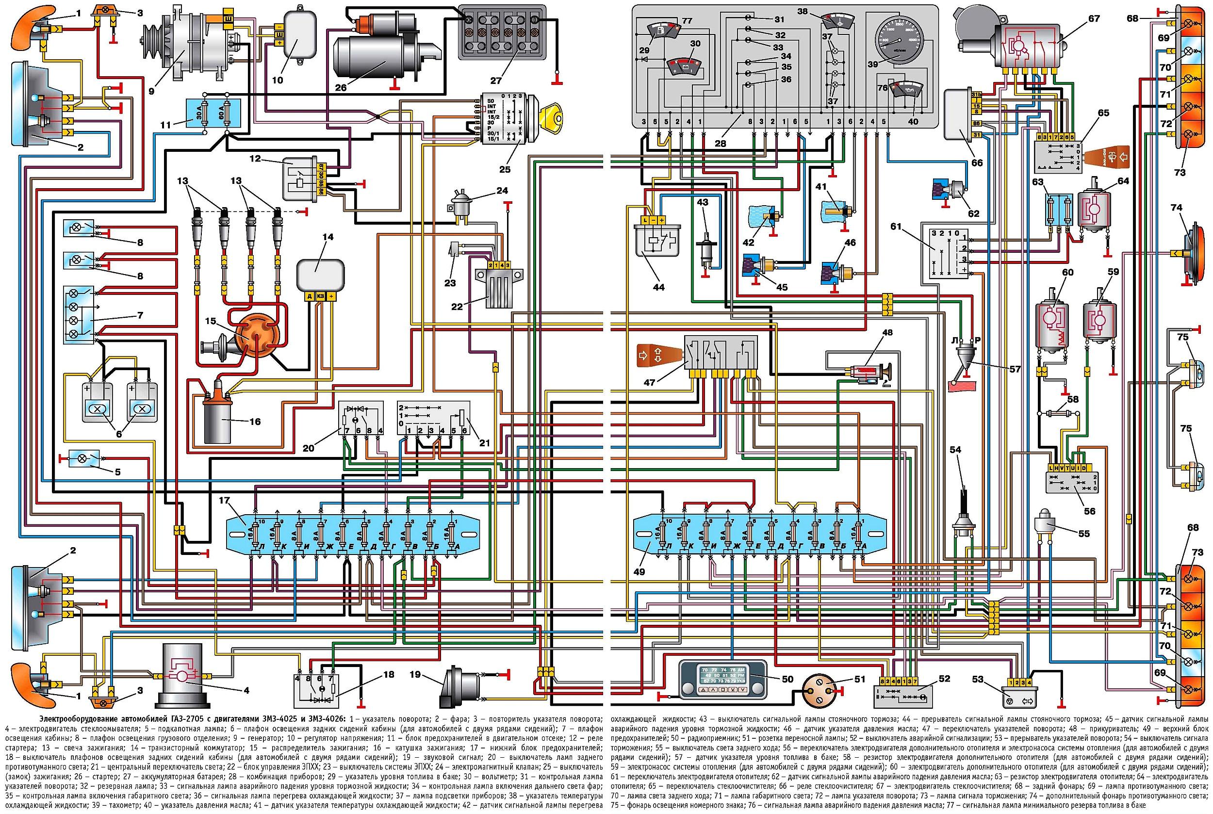 Газ 3302 схема электрооборудования фото 782