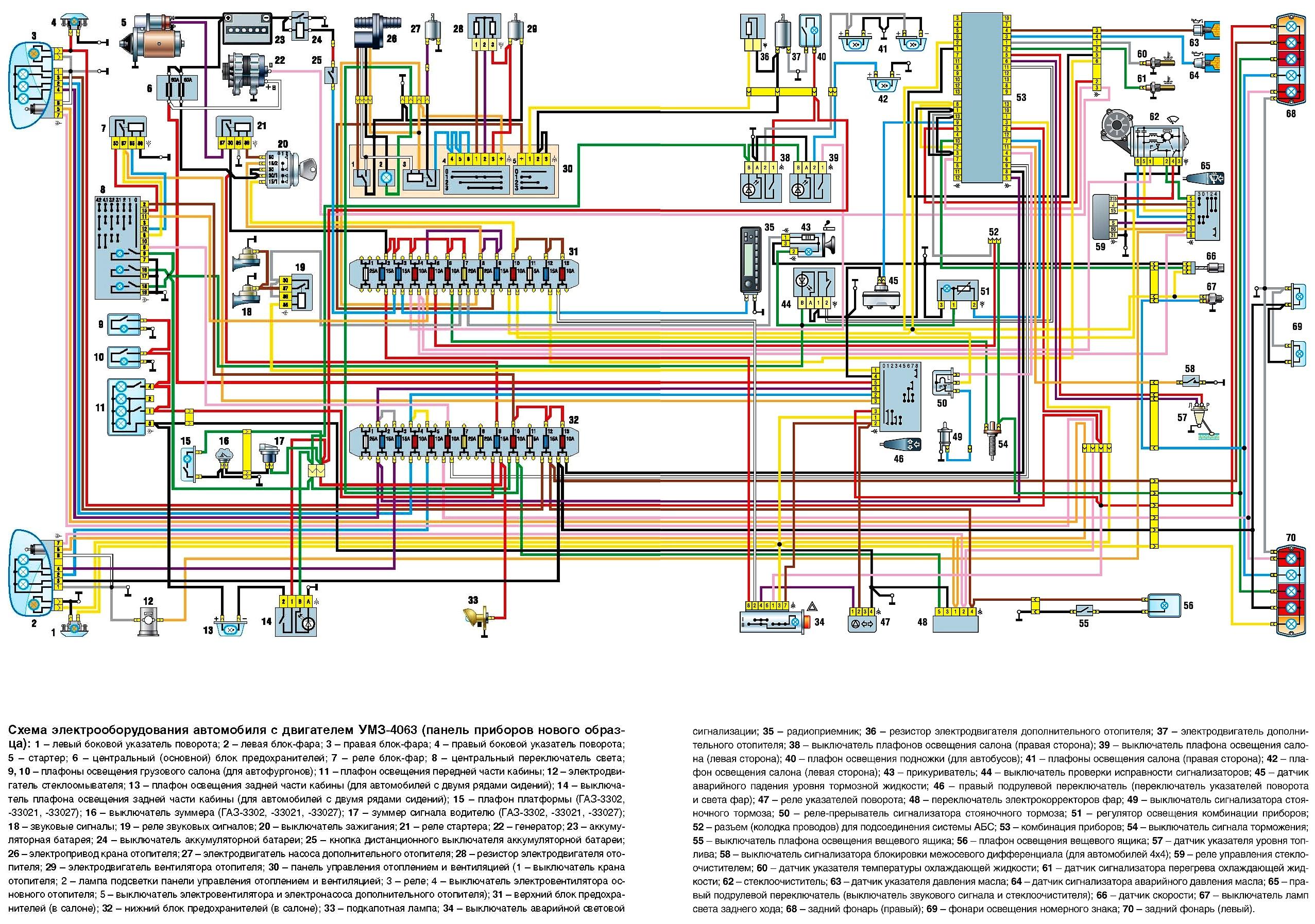 электросхема газ 3302 двигатель 405