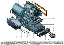 Детали основного отопителя автомобилей ГАЗель ГАЗ-3302 и ГАЗ-2705 выпуска с 2003 года