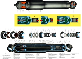 Устройство и схема работы амортизаторов передней подвески ВАЗ-21213 Лада Нива и ВАЗ-21214 Лада 4х4