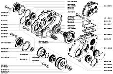 Корпус раздаточной коробки УАЗ-3741, УАЗ-3962, УАЗ-3909, УАЗ-2206, УАЗ-3303 состоит из двух частей, картера и крышки