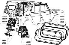 Уплотнитель при натягивании тента УАЗ на скобы должен плотно прилегать к горизонтальной плоскости бортов